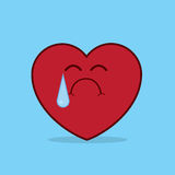 Heart Crying Royalty Free Stock Image