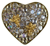 Heart of the crystal Royalty Free Stock Photography