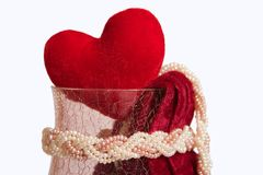Heart in the crystal vase royalty free stock images