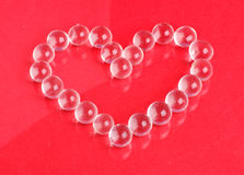 Heart from crystals Stock Photos