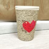 Heart in a cup stock photos