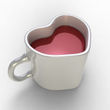 Heart from a cup. 3d model Heart from a cup Royalty Free Stock Photography
