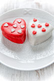 Heart cup cake Royalty Free Stock Images