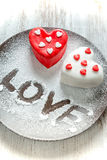 Heart cup cake Royalty Free Stock Photography