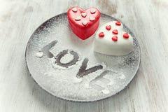 Heart cup cake Stock Photos