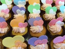 Heart cup cake Stock Images