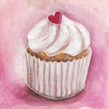 Heart Cupcake Royalty Free Stock Photography
