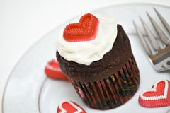 Heart Cupcake royalty free stock image