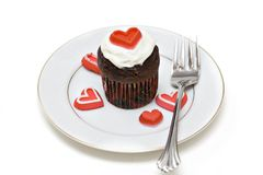 Heart Cupcake Stock Photos