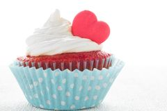Heart cupcake for Valentine`s Day Stock Photography