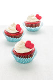 Heart cupcakes for Valentine`s Day Royalty Free Stock Image
