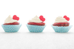 Heart cupcakes for Valentine`s Day Stock Photo