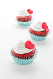Heart cupcakes for Valentine`s Day Royalty Free Stock Photography