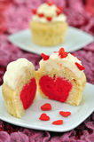 Heart Cupcakes Stock Photography