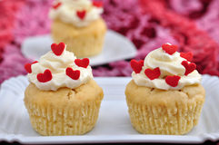 Heart Cupcakes Stock Photography