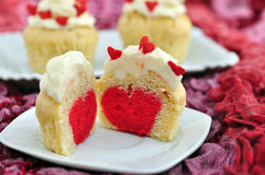 Heart Cupcakes Stock Images