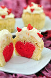 Heart Cupcakes Stock Image