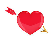 Heart with Cupid's arrow. Royalty Free Stock Photo