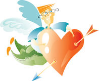 Heart with cupid's arrow Royalty Free Stock Photos