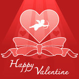 Heart and cupid symbol Stock Photos