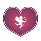 Heart with cupid Royalty Free Stock Image
