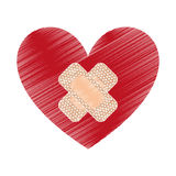 heart with cure band icon Royalty Free Stock Photos