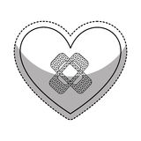 heart with cure band icon Royalty Free Stock Image