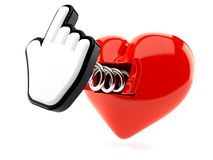 Heart with cursor Royalty Free Stock Photography