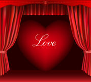 Heart and curtain. Stock Photo