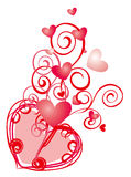 Heart and curves pattern Stock Photo