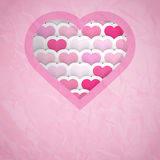 Heart Cut-out Background Royalty Free Stock Photo