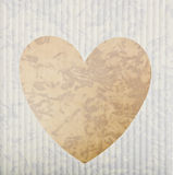Heart cut out on bag Stock Images