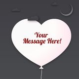 Heart cut out of paper with place for your message Royalty Free Stock Photography