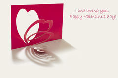 Heart cut out from red paper Stock Images
