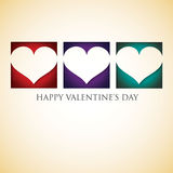 Heart cut out Valentine's Day card Royalty Free Stock Photography