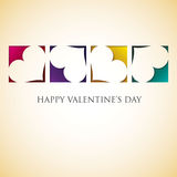 Heart cut out Valentine's Day card Royalty Free Stock Photos
