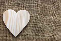Heart cut out of wood Stock Image