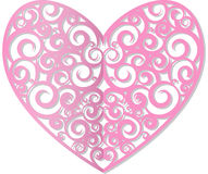 Heart cut from paper. Tracery heart cut from paper. vector illustration Stock Photo