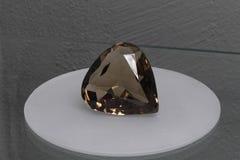 Cut of precious stone. Heart cut of precious stone royalty free stock image