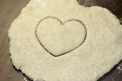 Heart Cut in Salt Dough Stock Photo