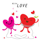 Heart Cute Cartoon Character Vector Stock Photography
