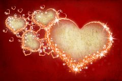 Heart 11. Cute heart for holiday cards Royalty Free Stock Images