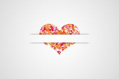 Heart 13. Cute heart for holiday cards vector illustration
