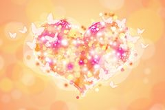 Heart 38. Cute heart for holiday cards Royalty Free Stock Images