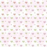 Heart Cute Pattern Background. Vector illustration of cute heart pattern background Stock Photos