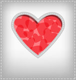 Heart cutout in gray Stock Photography