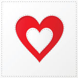 Heart cutout poster illustration Stock Photography