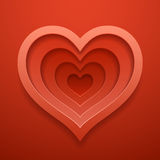 Heart cutted out shape.Template for Valentine`s or wedding day. Stock Images