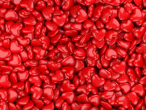 Heart 3d background. Abstract 3d background from red hearts Royalty Free Stock Images