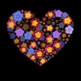 Heart with 3d effect. Flower heart Vector. Vector flower Heart with 3d effect Royalty Free Stock Image